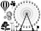 Fotografie Vektorelemente der Freizeitpark
