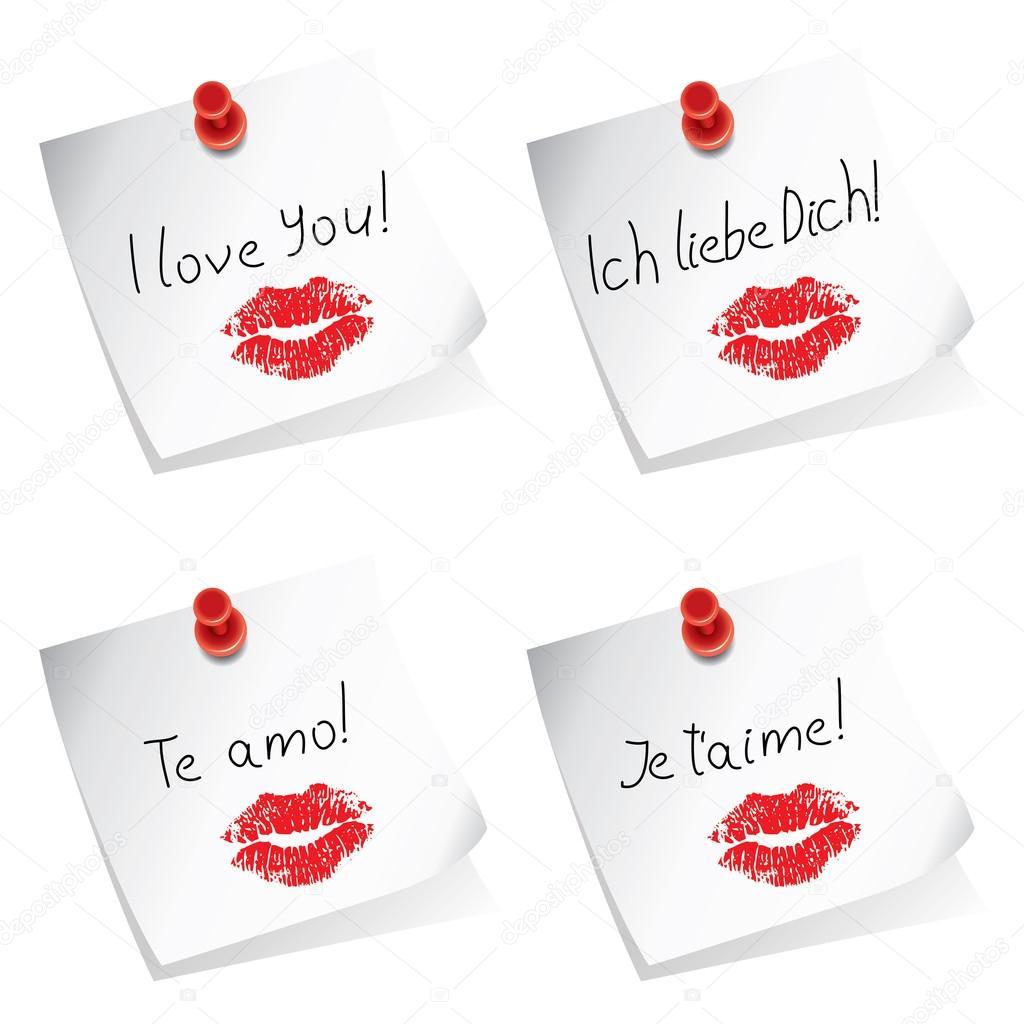 я люблю тебя на английском