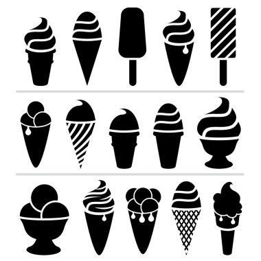 vector ice-cream icons