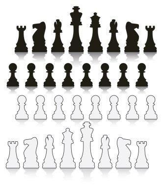 vector set chess symbols