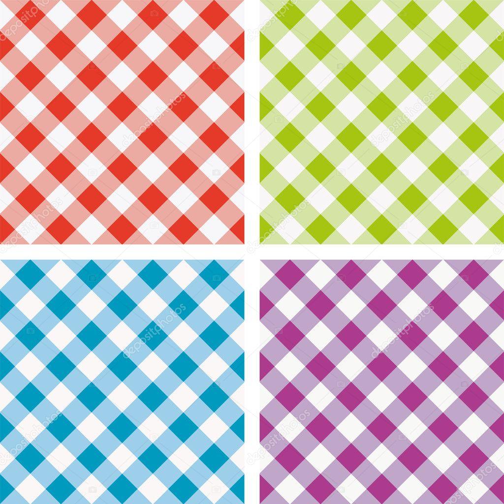 Conjunto De Vetores De Piquenique Colorido Toalha De Mesa De
