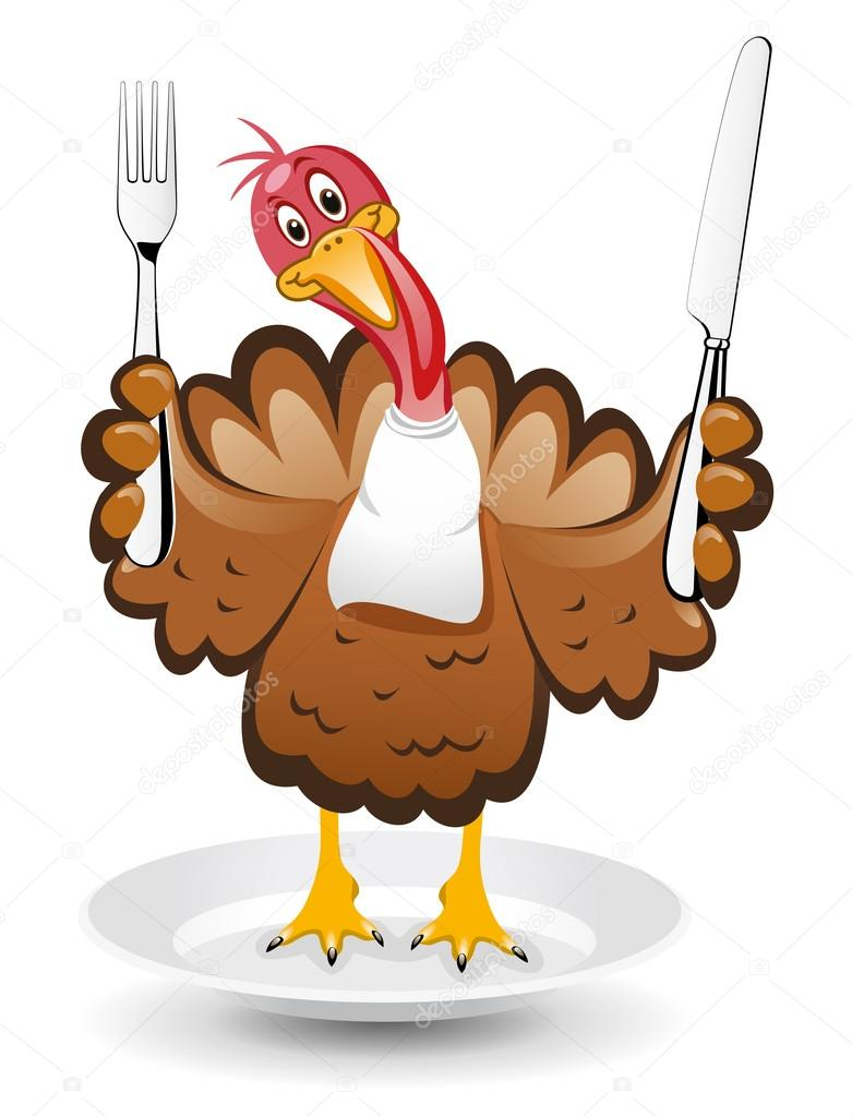 vector turkey clipart for thanksgiving day u2014 stock vector