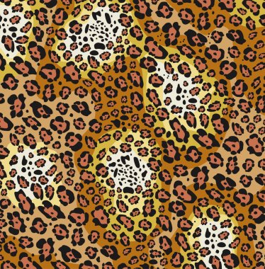 vector animal skin pattern of leopard print