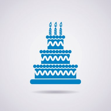 vector big birthday cake icon