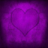 Valentin-napi szerelmes szív retro grunge lila háttér