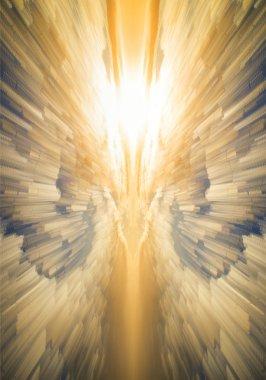 Unique abstract time lapse stack technique heavenly vibrant glow