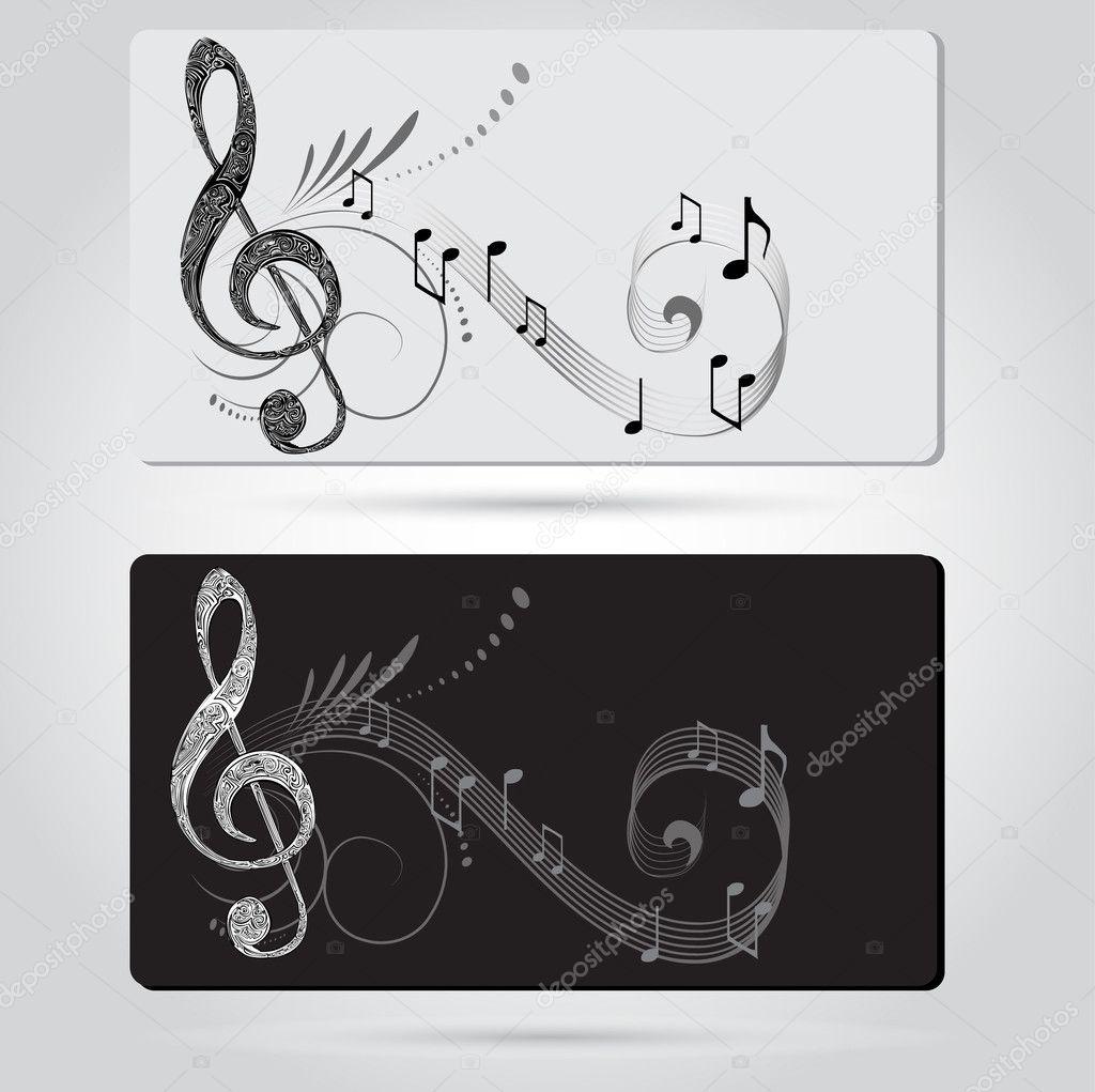 Musik Karten Vorlagen — Stockvektor © lindwa #14128508