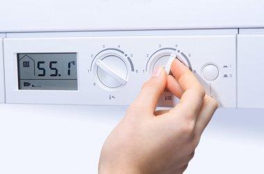 House heating boiler