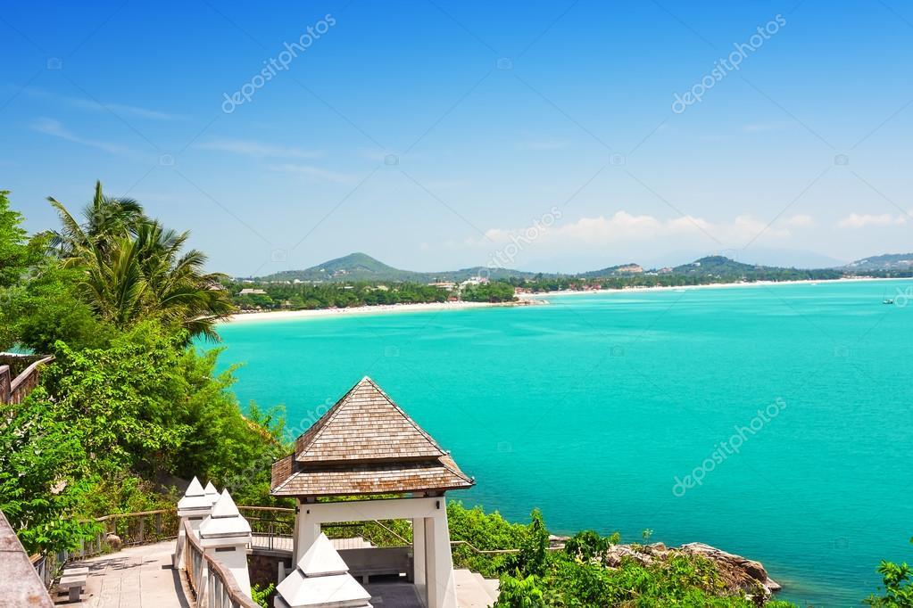 Blick Auf Chaweng Beach Koh Samui Thailand Stockfoto