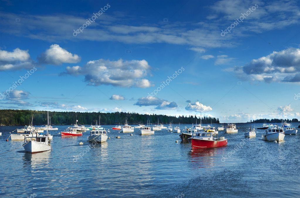 New England fishing harbor