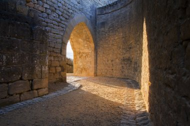 Medieval castle archway