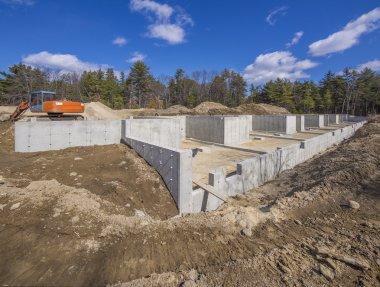 New multi family house foundation