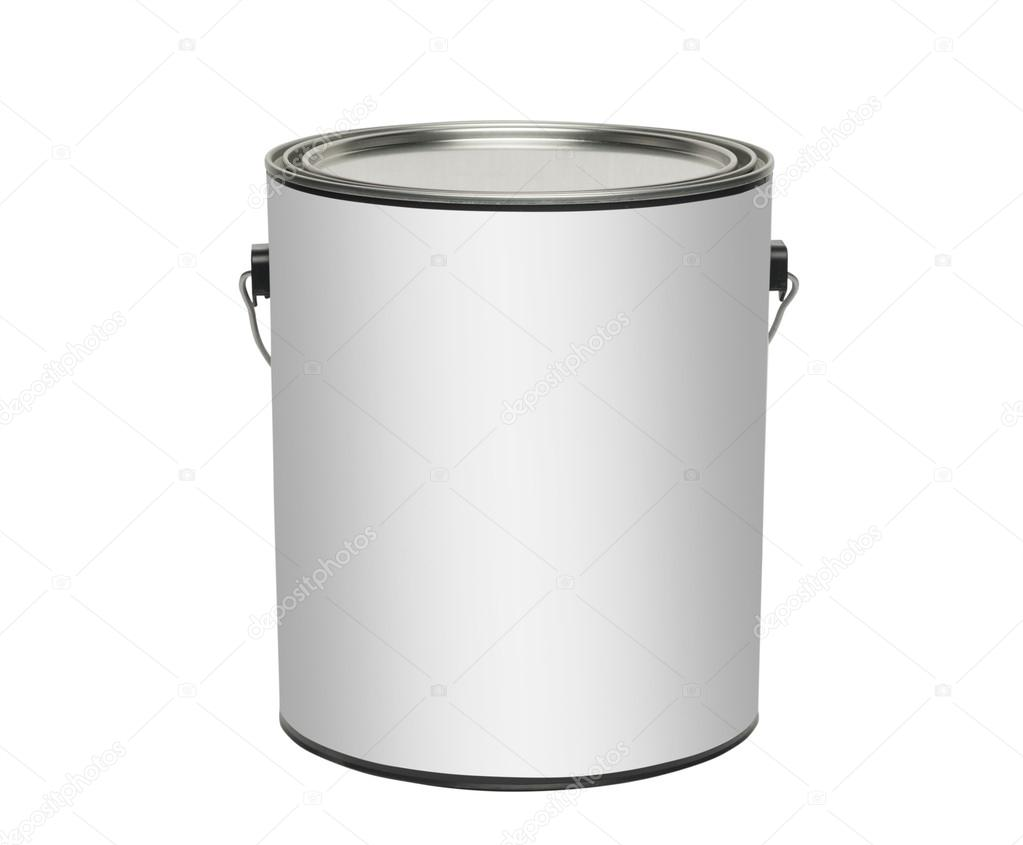 Paint can, isolated with clipping path