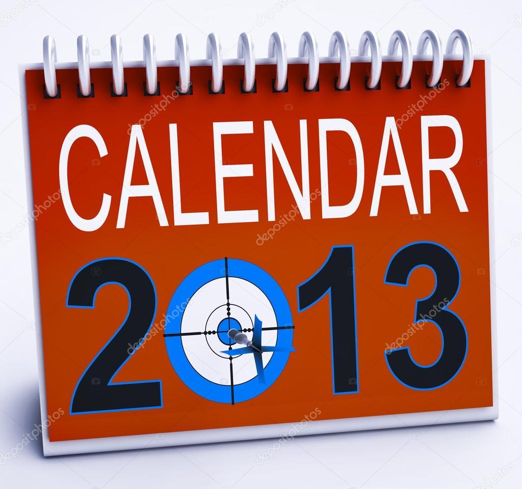 Calendar Planner Target : 2013 calendar shows year planner and schedule u2014 stock photo