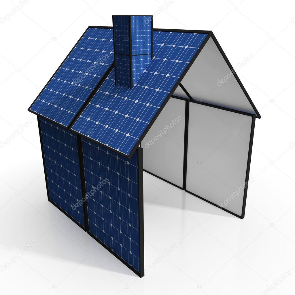 Great Solar Panel Haus Zeigt, Erneuerbare Energien Oder Strom U2014 Foto Von  Stuartmiles