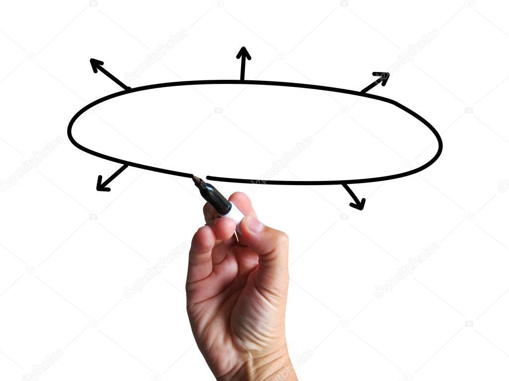 Blank Diagram Shows Copy Space Business Plan Arrows Flow Chart