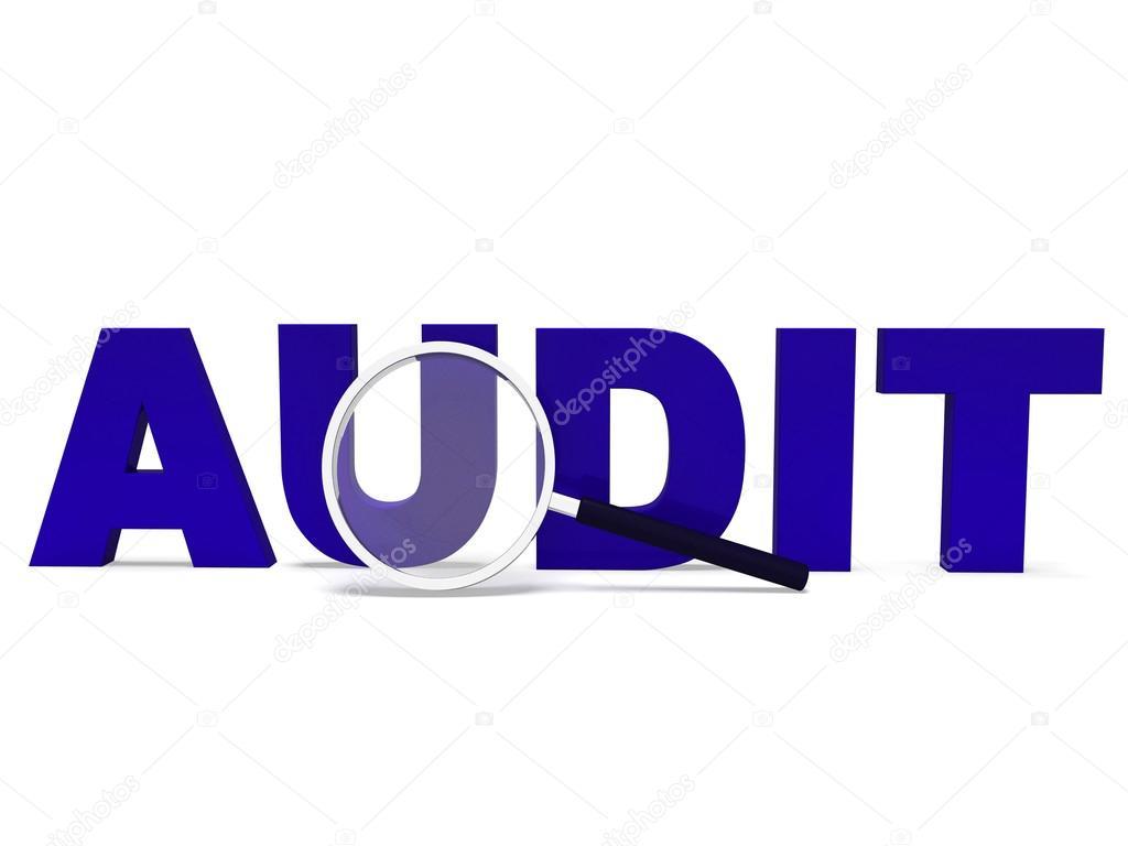 Audit-Wort bedeutet validierenden auditing oder stellt — Stockfoto ...
