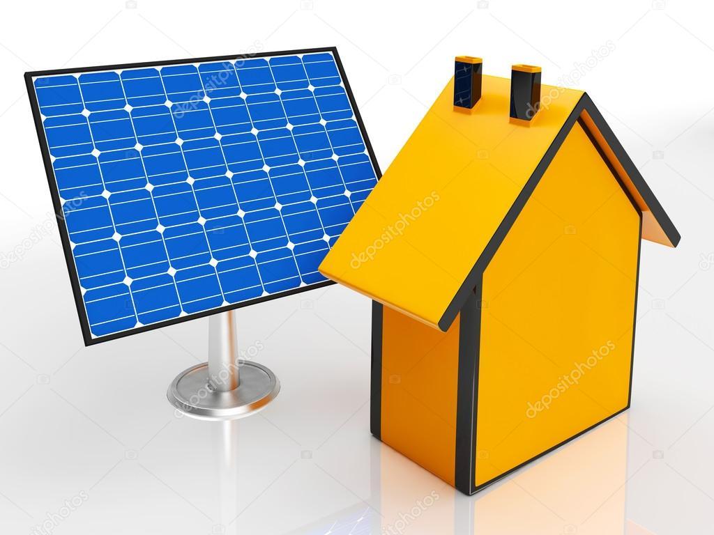 Solar Panel Von Haus Ergebnis Erneuerbare Energien U2014 Stockfoto