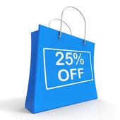 购物袋显示销售折扣 25 二十个五折