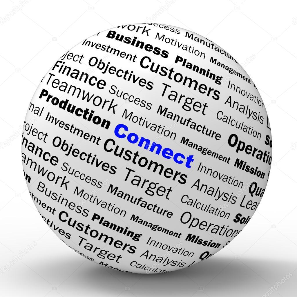 Schließen Sie Kugel Definition Bedeutet Online Verbindungen