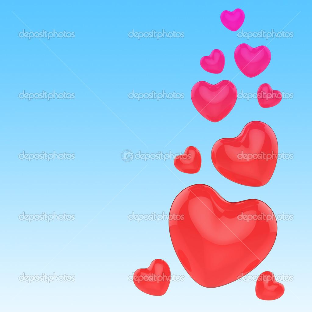 Corazones En Cielo Significado Romance Y El Amor Fotos De Stock