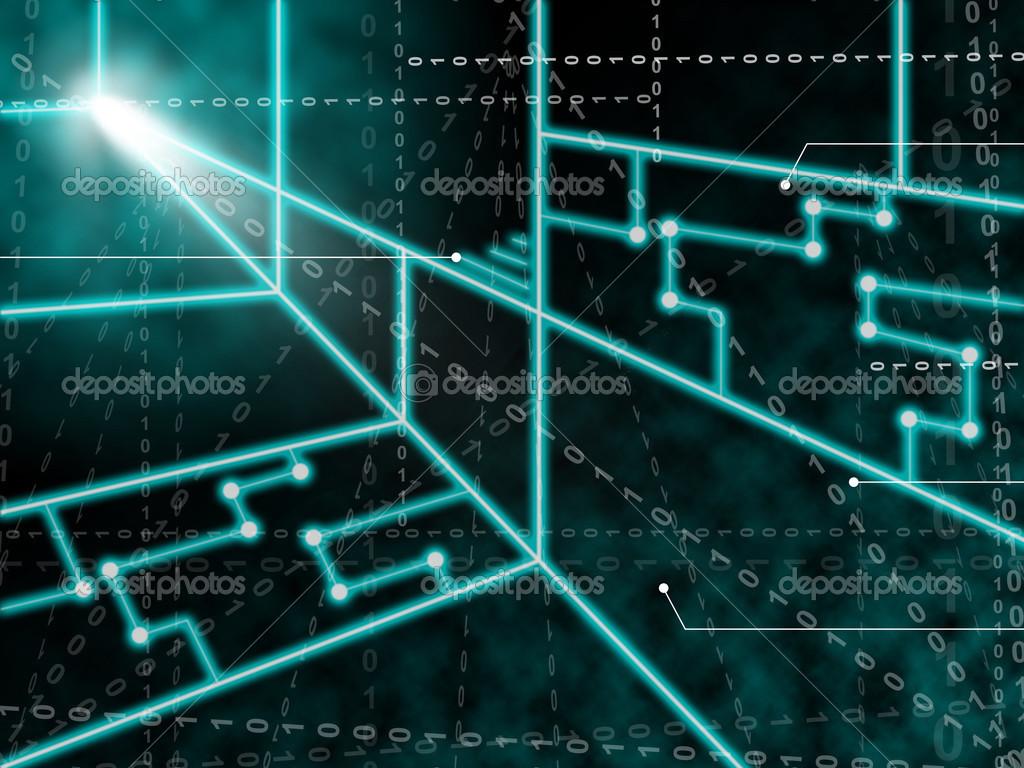 Circuito Significado : Laser circuito fundo significa feixes de luz ou laser brilhante