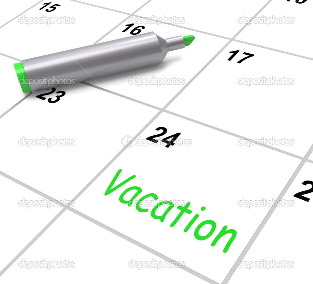 Calendrier Des Vacances Affiche Jour De Conge De Travail Ou Un Jour