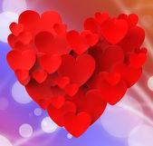 Srdce s srdce ukazuje, vášnivé lásky a milující manželství