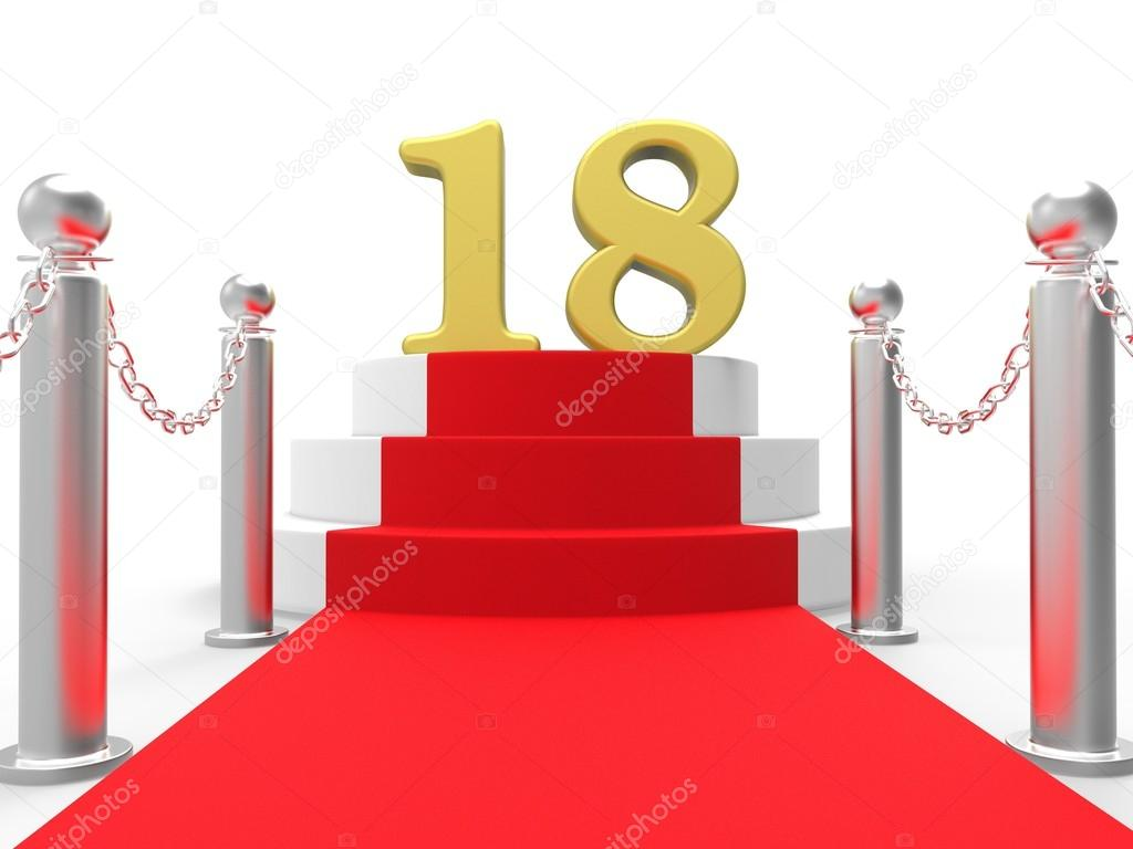 Golden Eighteen On Red Carpet Meaning Celebrity Eighteenth Birthday Party