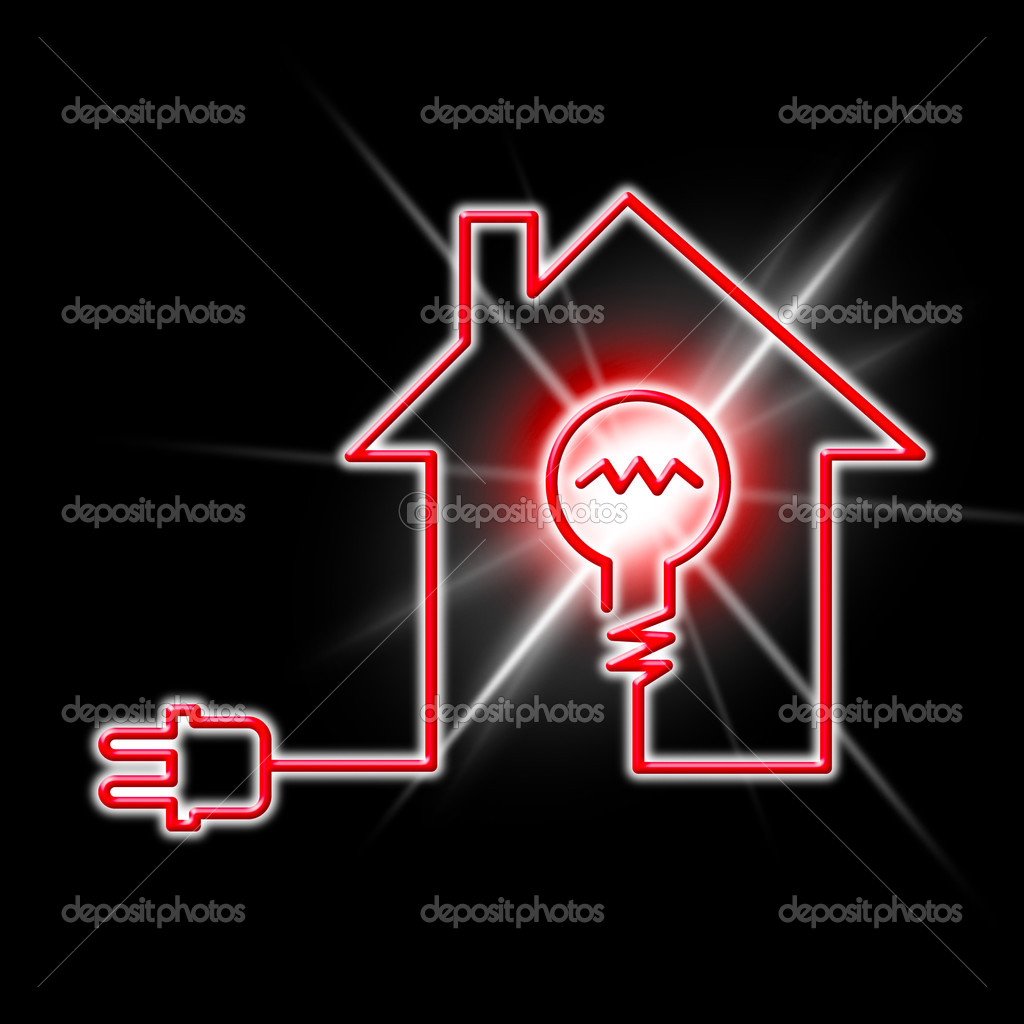 Light Bulb Means Power Source And Circuit Stock Photo