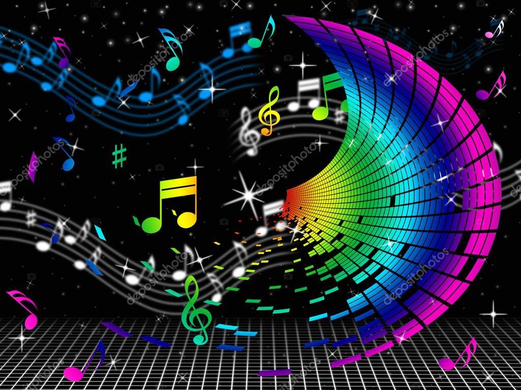 Notes de couleur signifie feuilles de musique et audio photographie stuartmiles 48827765 - Feuille de musique a imprimer ...