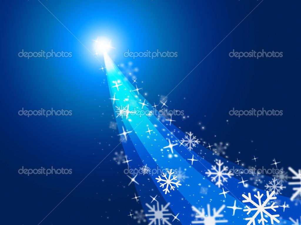 Sterne Weihnachten zeigt Frohe Weihnachten und ein flammendes ...