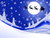Moon Xmas Indicates Father Christmas And Celebrate