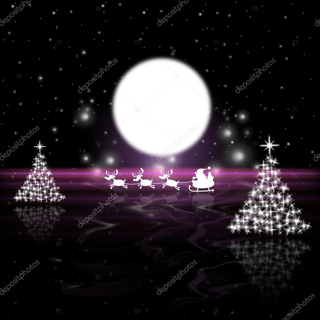 Buon Natale Que Significa.Albero Di Natale Significa Luna Piena E Di Luna Foto Stock
