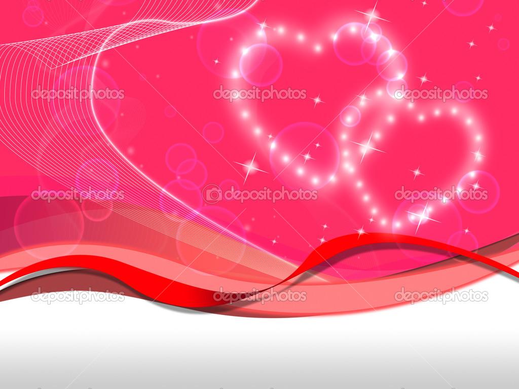 Fondo De Corazones De Color Rosa Significa Amor Especial Y Valentin