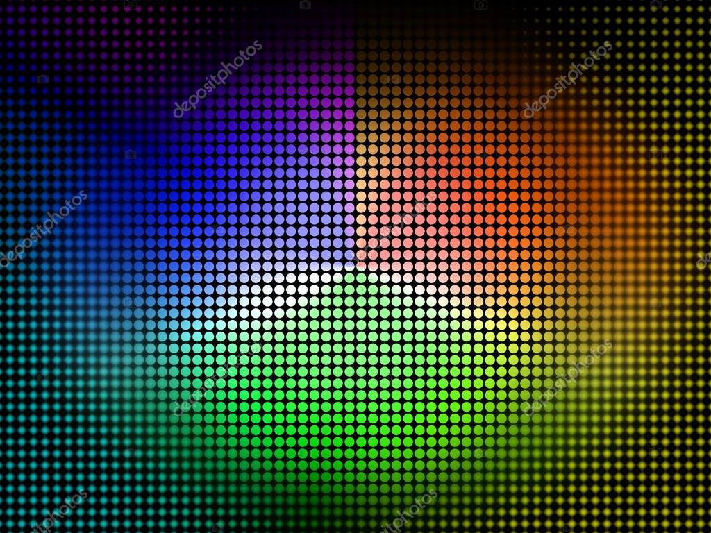 Color Wheel Background Shows Coloring Shade And Pigmen Stock Photo