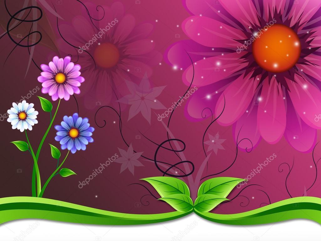 Flores Fondo Significa Floreciente Y Belleza Exterior U2014 Fotos De Stock