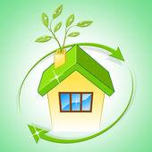 House Eco Means Go Green And Conservation