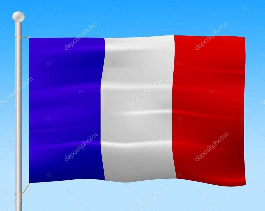 france flag means french country and nationality — stock photo