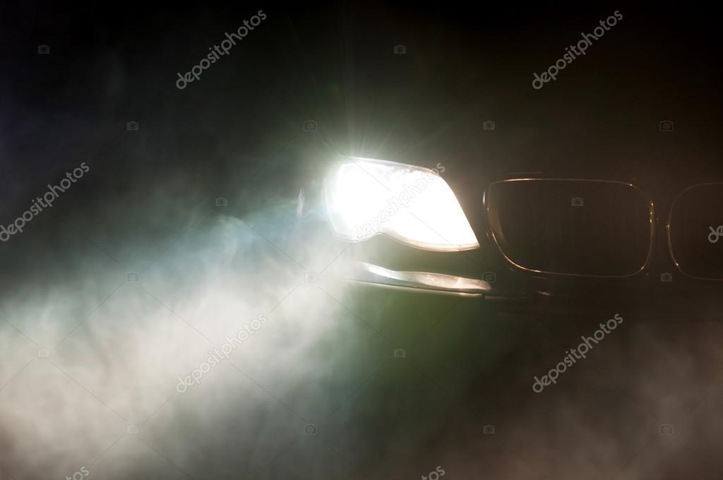 Car Headlights of a car
