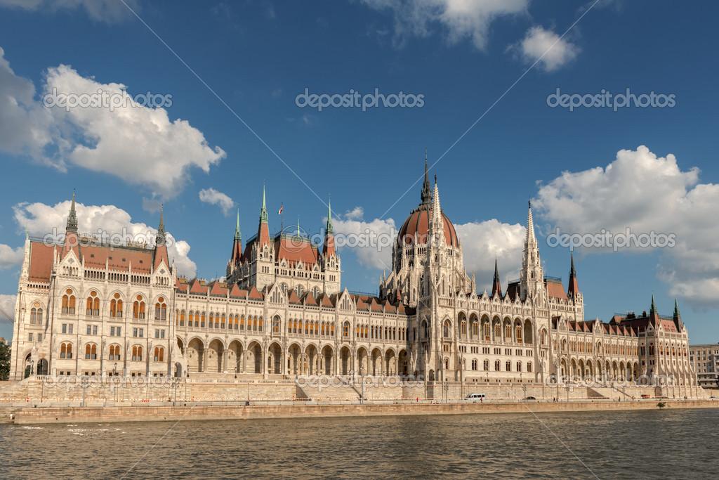 Edificio del parlamento h ngaro foto de stock for Foto del parlamento