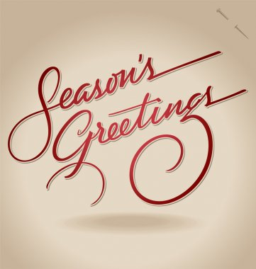 'Season's Greetings' hand lettering (vector)