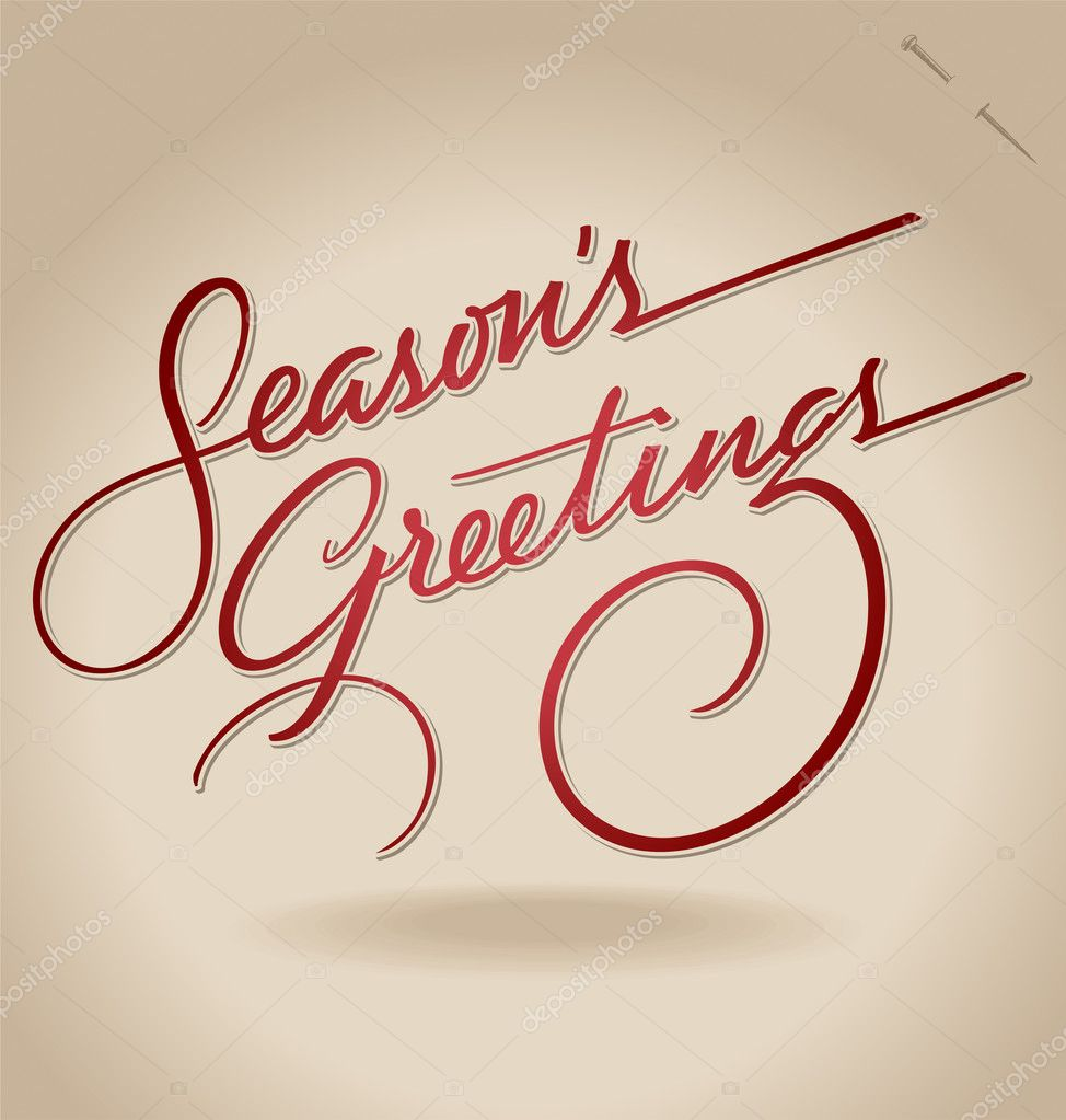 'Season's Greetings' hand lettering (vector)