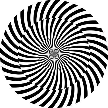 Black and white hypnotic background illustration