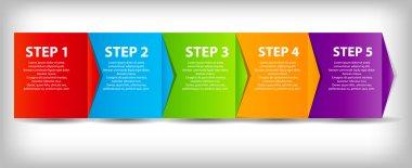 Concept of business process improvements chart. Vector illustra