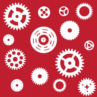 Machine Gear Wheel Cogwheel seamless pattern. Vector illustratio
