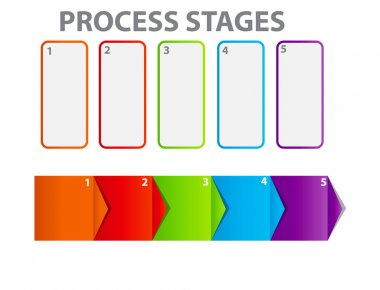 Concept of business process improvements chart. Vector illustrat