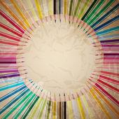 vektorové sada barevných tužek