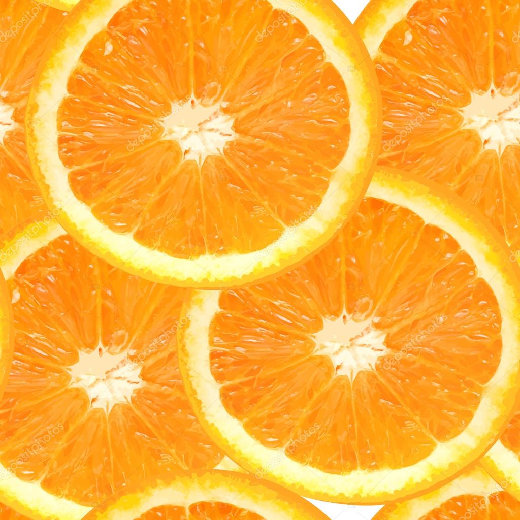 Fresh juicy orange seamless pattern background vector illustrati