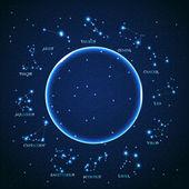 vektor znamení zvěrokruhu Beran krásné jasné hvězdy na